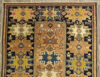 Antique Leshgi star rug wonderful colors and very good condition all original size 2,90 x 1,60 cm and Circa 1900