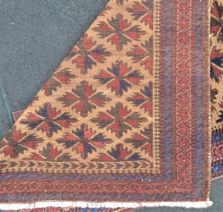 Baluch rug amazing camel hair and excellent condition all original size 1,70 x 94 cm Circa 1915