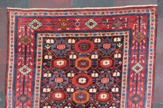 Shahsawen Gallerie Rug wonderful colors and amazing wool all original size 3,25x1,40 cm ( 4''6x 10''6 foot ) Circa 1870-1880