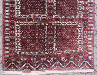 Yurkoman for Tente engsi rug wonderful colors and excellent condition all original size 1,63x1,45 cm and Circa 1910-1920