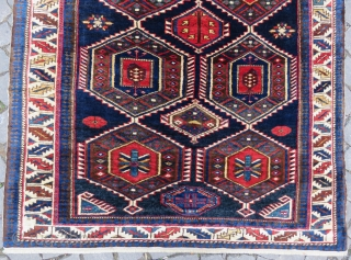 Caucassian shirvan rug wonderful colors and full pile all original and excellent condition size 2,40x1,21  cm Circa 1900