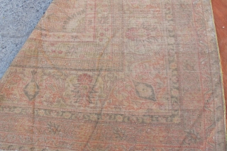 Anatolian oushak large carpet  very fine and size 21'00 x 27'00 foot ( 8,20x6,40 cm) Circa 1900