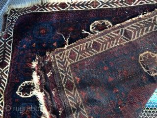 Antique baluch bag face  80x70cm