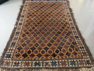 Baluch rug 135x83 Some condition issue  Circa 1880