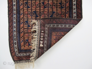 Baluch prayer-rug, Circa 1900, Excellent condition, Not restored, Natural colours, Size: 132 x 88 cm.