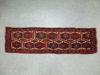 Ersari Torba, Late 19th century, Natural dyes, Original condition, Size: 150 x 42 cm.