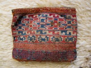Unusual small pouch. 10x10cm.