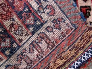 Stripe chamseh bagface, around 1900, 60x50cm