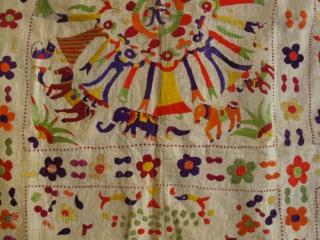 Sweet chamba rumal, India around 1900, ca. 80x80cm. overall good condition.