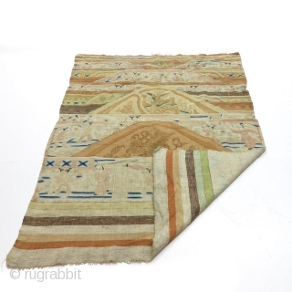 Absolutely Fabulous Chinese flat woven kilim.