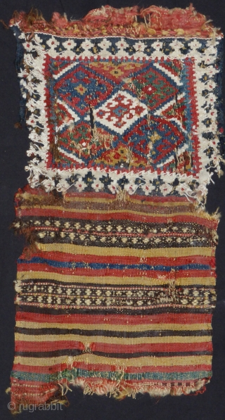 Small Qashgay bag fragment 19th cent.