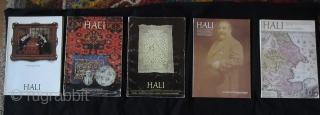 Hali Magazine: Lot A: Issue 3, 5, 6, 7, 9, 10, 12, 13, 14, 15. From Issue 10 mint cond.     Lot B: Issue 16-25 mint cond.   Issues 17-44 and 48-100 also available.