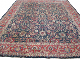 An old Indian carpet in mint condition, size: 13 x 10 ft.