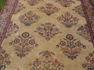 20th century Indian carpet throughout wear and repaired on couple of places, measuring 9x6 ft.