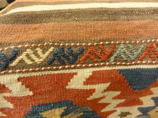 Antique Mafrash Woven Ca 1890 - Size: 17H x 19D x 28L