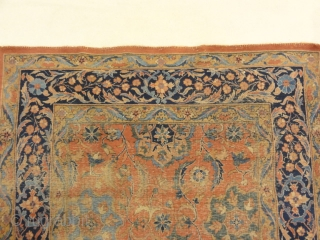 """Antique Indian Mughal Classical Rug Genuine Woven Carpet Art Intricate Authentic Rugs and More Santa Barbara Design Center  3'10"""" x 5'11"""""""