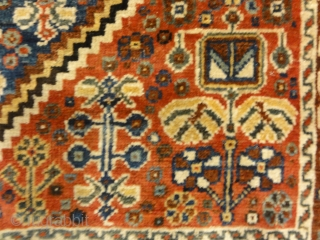 Antique Persian Qashgai Woven Circa 1890 Genuine Woven Carpet