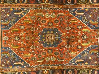 Antique Persian Qashqai Rug Woven Circa 1900 - Size: 3'1″ x 3'7″