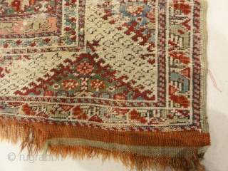 Antique Ghiordes Rug Circa 17th Century