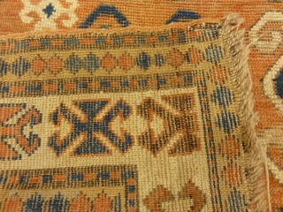 Antique Caucasian Kazak Rug Mid 19th Century