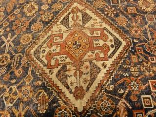 Antique Qashqai Rug 5'1″ x 7'8″
