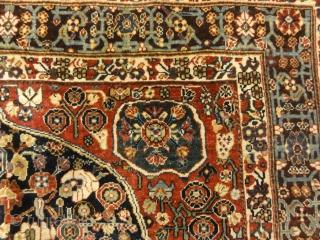 "Very Rare Antique Qashqai 1001 Flowers Rug 5'4"" x 8'"