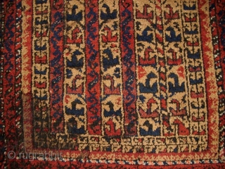 Betltsch, Prayer rug, ca. 1880, splitts, bad condition but age, 112 x 70 cm