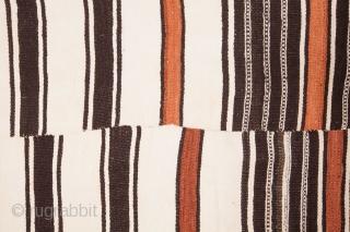 West African Vintage Fulani Blanket 136 x 266 cm / 4'5'' x 8'8''