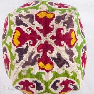 Iroki ( cross stitch ) Hat from Uzbekistan , late 19th c.
