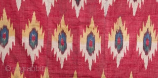Central Asian Uzbek Ikat Panel 77 x 109 cm / 2'6'' x 3'6''