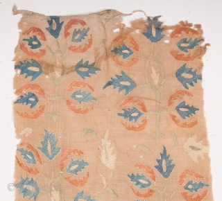 Ottoman Embroidery Fragment 42 x 102 cm / 1'4'' x 3'4''