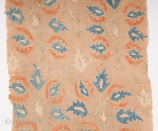 Ottoman Embroidery Fragment 42 x 102 cm / 1'4'' x 3'4''