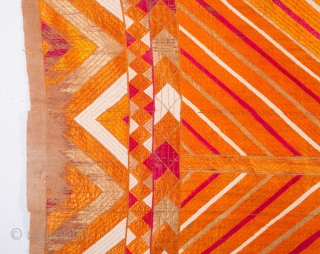 Phulkari, flos silk on cotton  138 x 210 cm / 4'6'' x 6'10''
