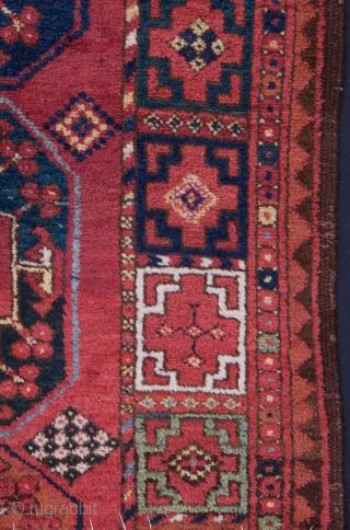 Turkmen Ersari Main Rug Fragment 195 x 200 cm/ 6'4'' x 6'6''