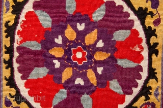 Uzbek Cross stitched Embroidery 31 x 35 cm / 12 x 13 inches