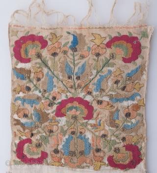 Ottoman Embroidery Fragment  26 x 58 cm / 0'10'' x 1'10''