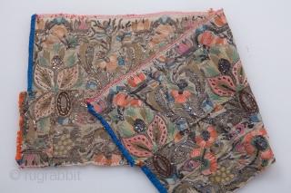 Ottoman Embroidery Fragment 19 x 44 cm / 0'7'' x 1'5''