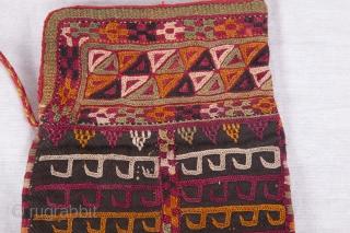 Turkmen Chodor Embroidered Tea Bag 14 x 22 cm / 5.51 x 8.66 inches