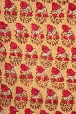 Antique Uzbek silk warp Cotton wefr Ikat Pane W 3 ft. 10 in. x L 7 ft. 0 in. W 116 cm x L 214 cm