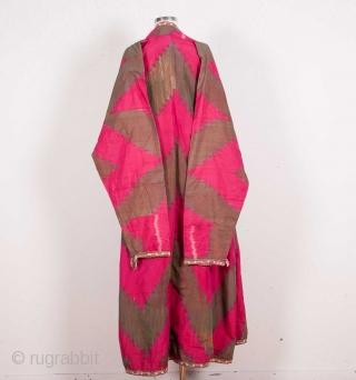 Uzbek Silk Ikat Chapan