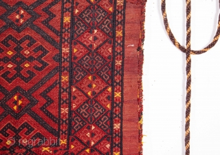 Turkmen Tekke Cicim Torba as complete as they get . 142 x 119 cm / 4'7'' x 3'10''