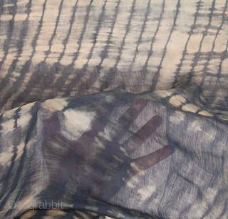 Indian Indigo Sari 569 x 112 cm/ 224'' x 44'