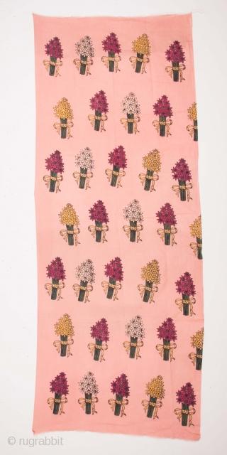 Anatolian Block Printed Cotton Panel 86 x 217 cm / 2'9'' x 7'1''