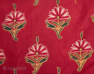 Embroidered Shawl, Gujarat , India 138 x 178 cm / 54 x 70 inches