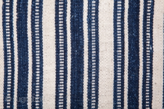 North Persian Indigo Cotton Jajim 200 x 248 cm / 6'6'' x 8'1''