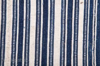 North Persian Indigo Cotton Jajim 200 x 248 cm / 6'6'' x 8'1''