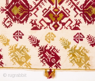 Greek embroidery from Rhodes? Late 19th / Early 20th C. 61 x 116 cm / 24.02 x 45.67 in