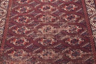 Turkmen Yomud Chuval Gul Main Rug 162 x 292 cm /5'3'' x 9'6''