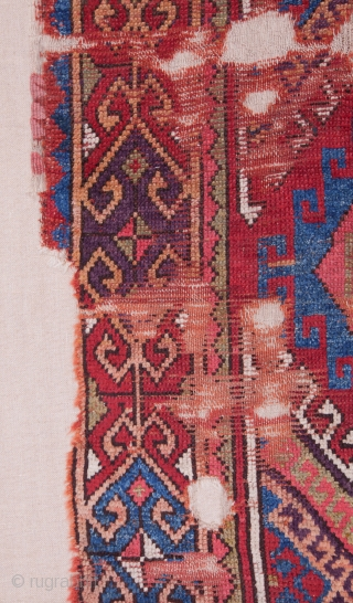 Central Anatolian Rug Fragment 214 x 117 cm ( Backed on linen)