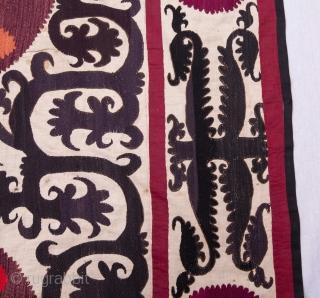 Early 20th C, Samarkand Suzani 249 x 268 cm / 8'2'' x 8'9''